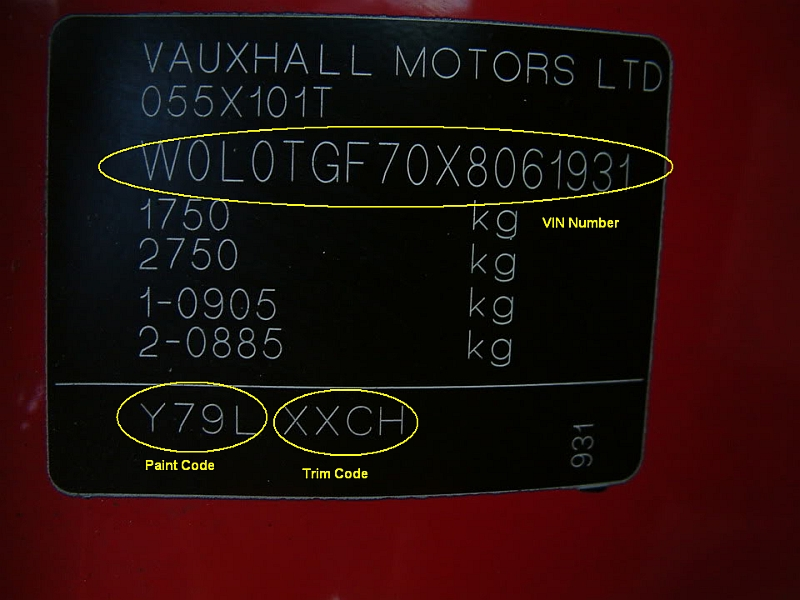Vauxhall Blue Paint Codes